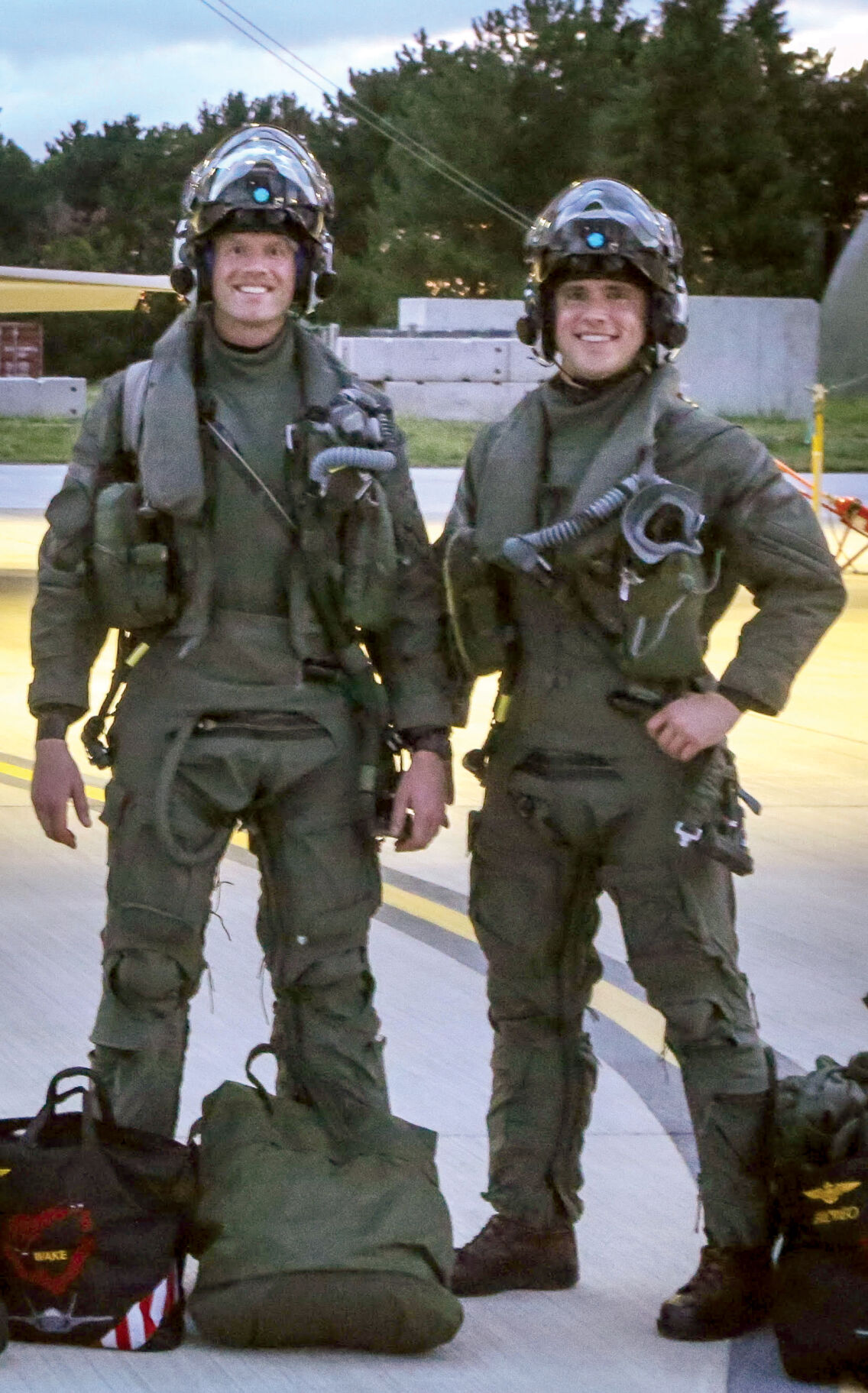 Marine flies with UK allies