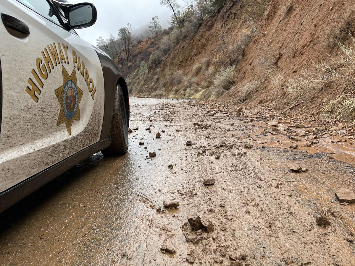 Rockslides on Del Puerto Canyon Road