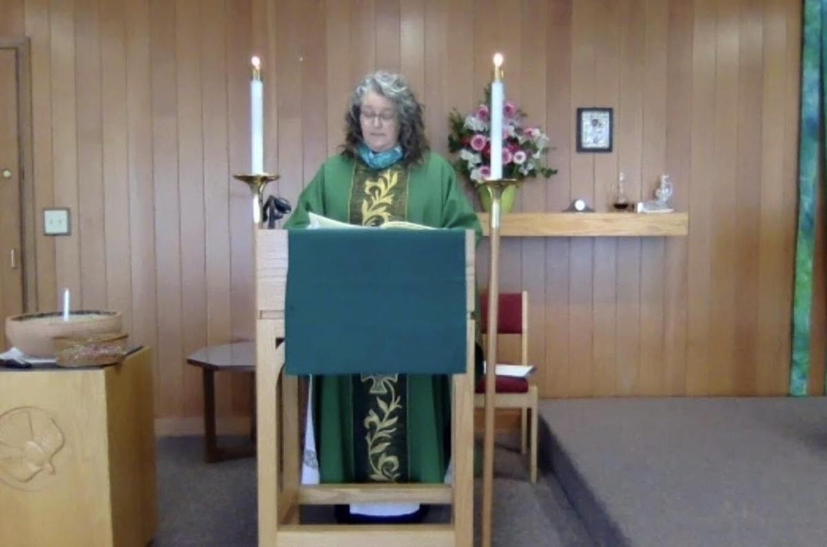 Katherine leading  our ZOOM Sunday Service from St Philipís Sanctuary.