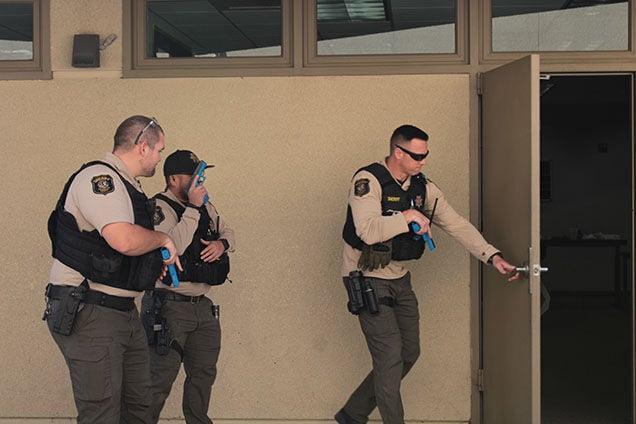 Patterson Police Services train for active shooter scenario