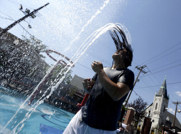 Hot weather stuck in reverse over East