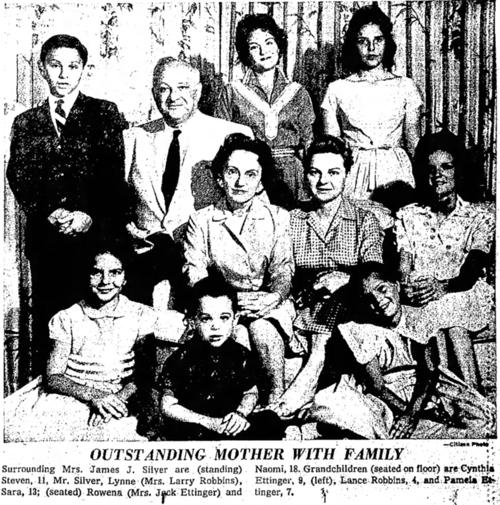 Rose Silver with her family in 1960