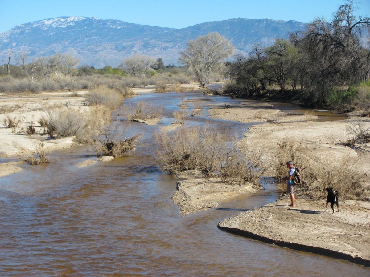 Tanque Verde Creek still flowing