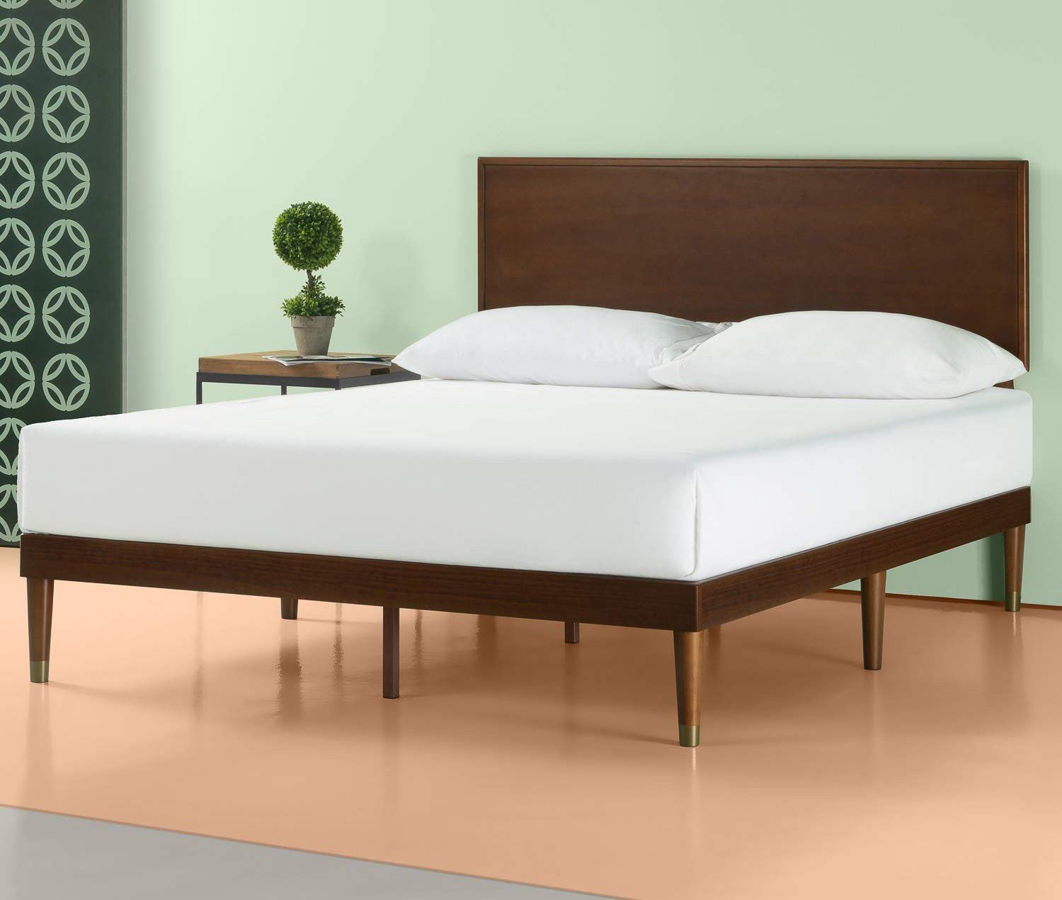 Get A West Elm Look For Under 300 With This Mid Century Bed