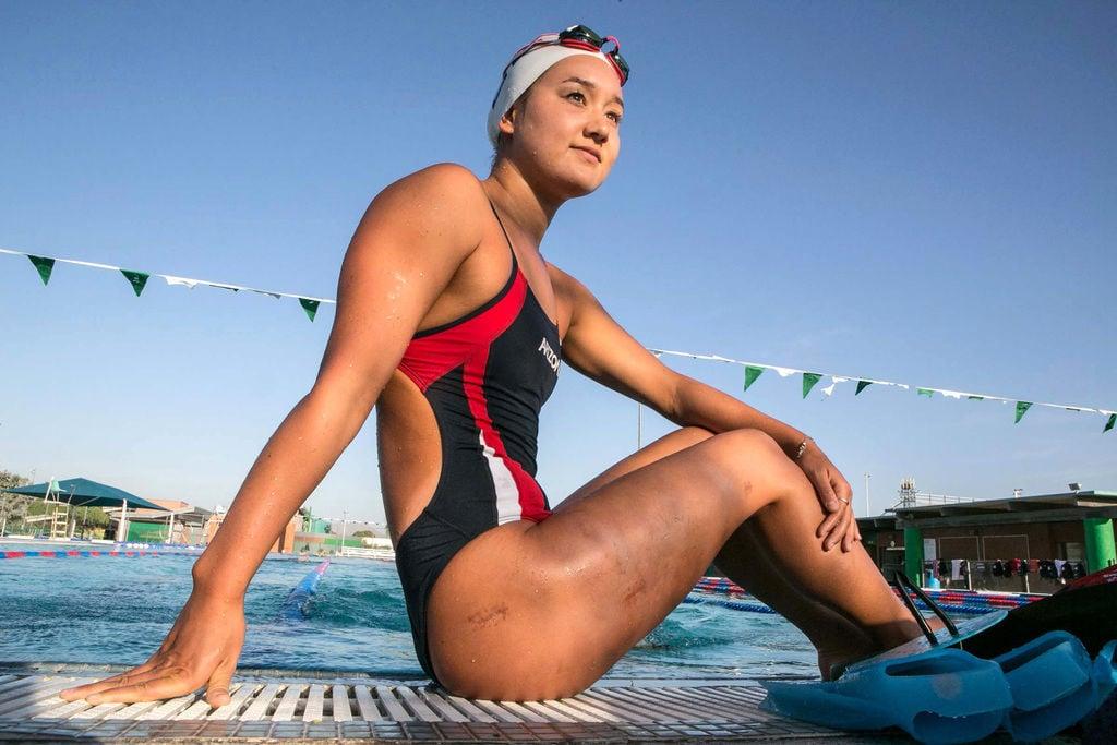 University of Arizona swimmer Sarah Shimomura