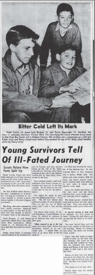 Young survivors tell of ill-fated journey (Nov. 18, 1958)