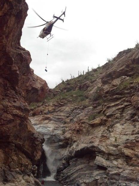 Rescue at Tanque Verde Falls