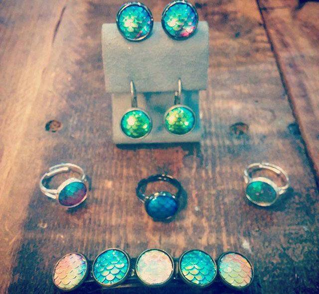 Mermaid scale jewelry