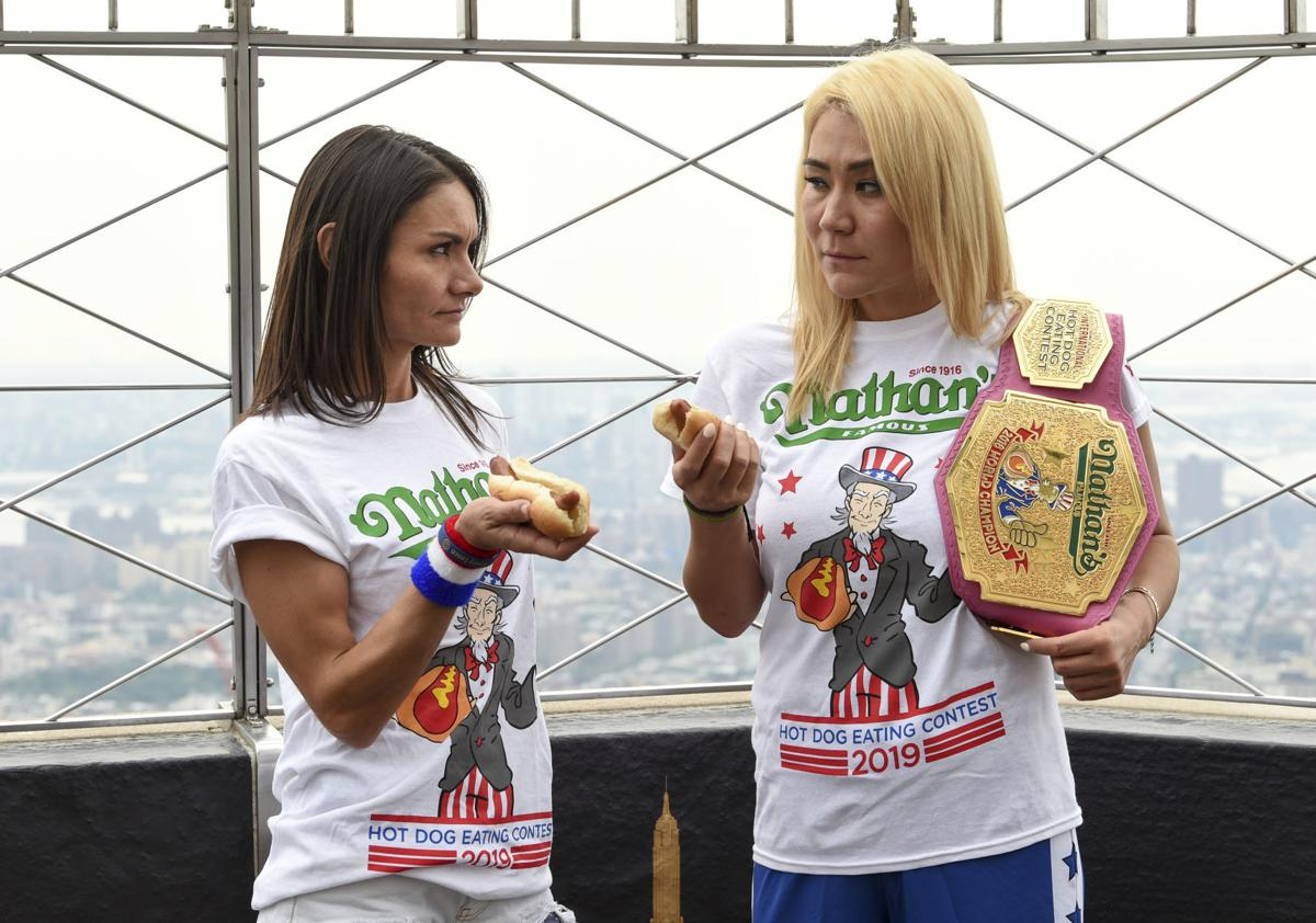 2019 Nathan's Hot Dog Eating Contest Weigh-In