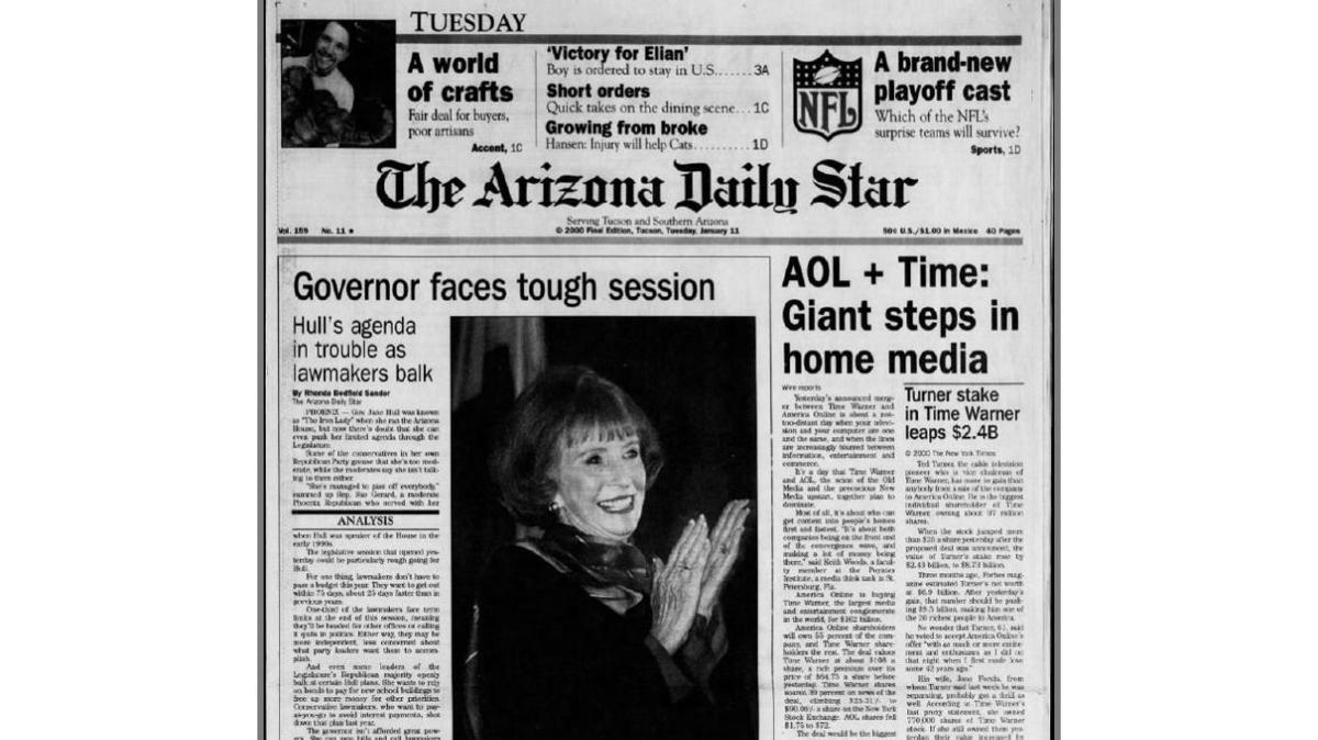 Arizona Daily Star front page Jan. 11, 2000