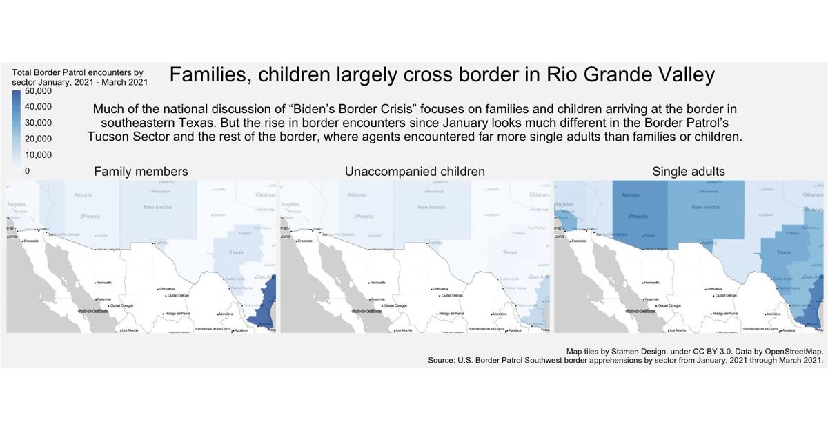 Families, children largely cross border in Rio Grande Valley