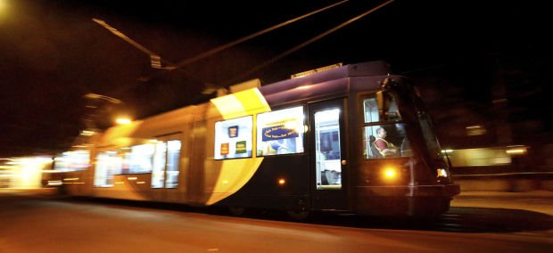 Late night high speed streetcar testing
