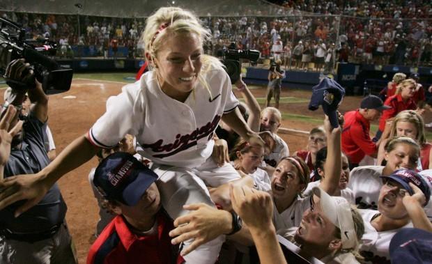 June 6, 2007: Mowatt pitches Arizona to its eighth NCAA championship (copy)