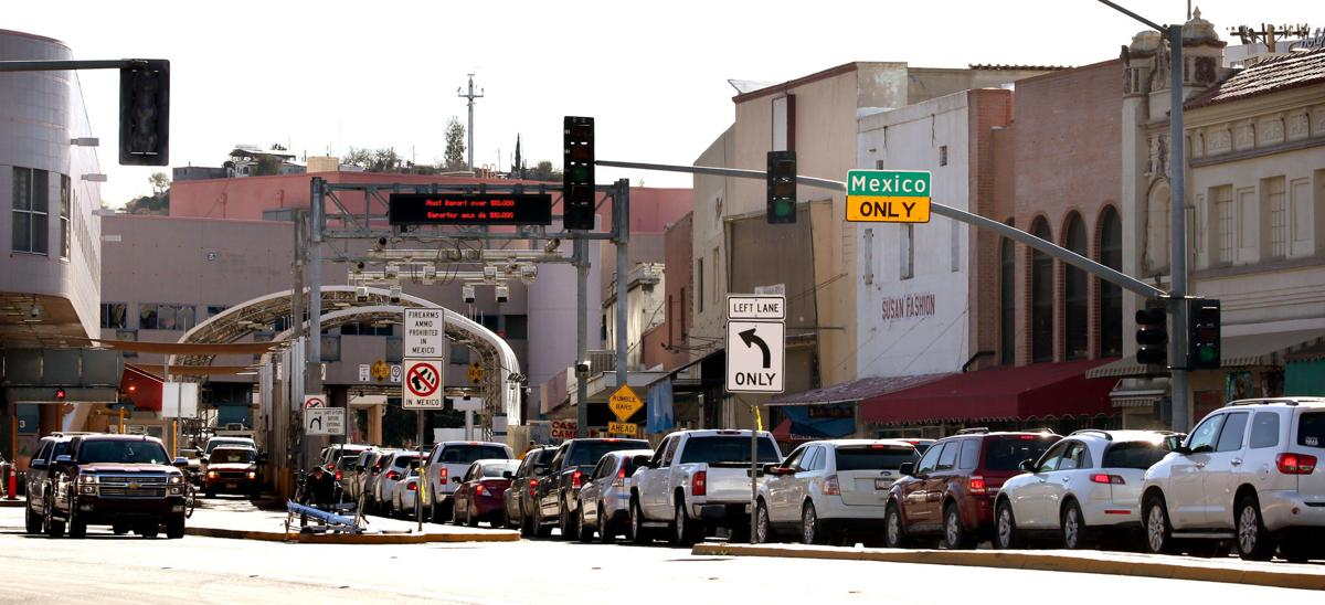 Southbound traffic at DeConcini Port of Entry (LE) (copy)