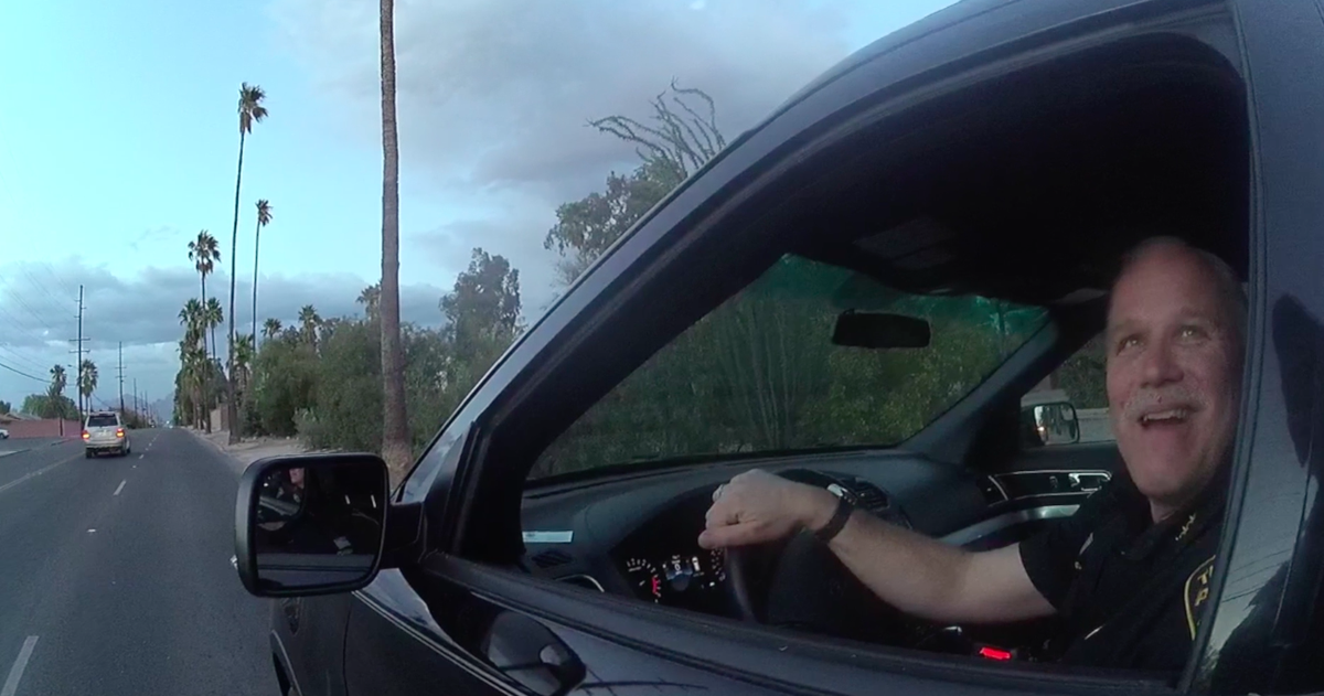 Tucson Police Chief Chris Magnus pulled over