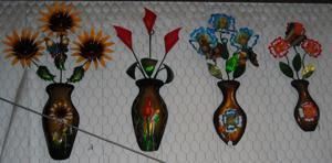 lawn art wall flower pots.JPG