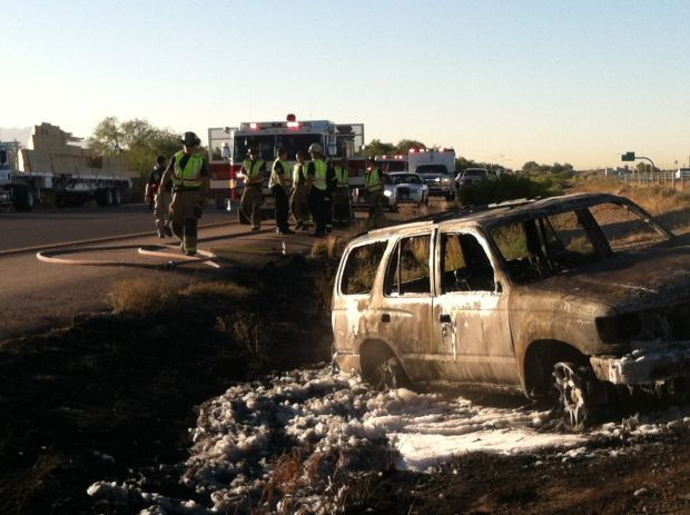 Woman seriously burned in early-morning SUV fire on Tucson's northwest side