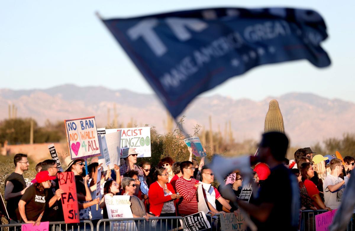 Political strategist Steve Bannon implores Tucson crowd to support Trump