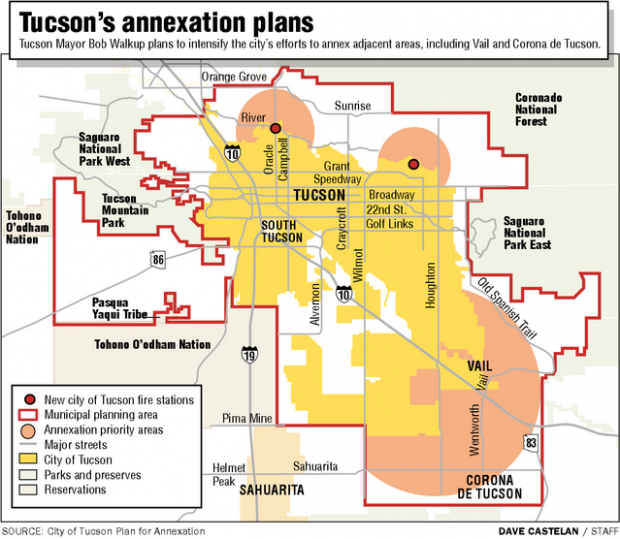 Annexation efforts in works east side tucson southeast side fire protection will not be as good if tucson takes over officials say publicscrutiny Gallery