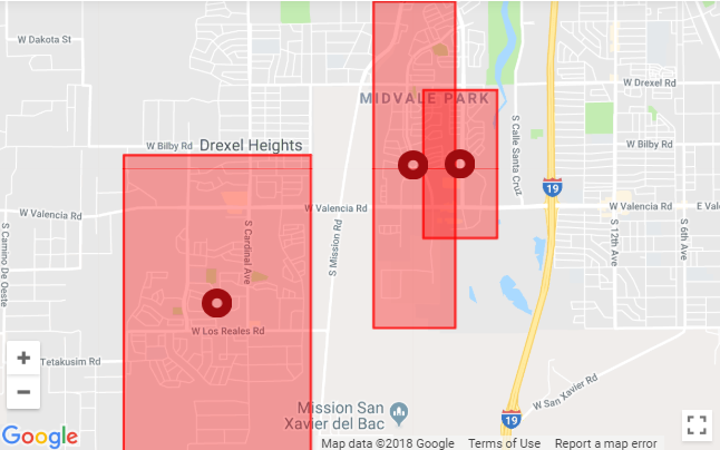 Dakota Electric Power Outage Map.Tep Restores Power For 6 000 Customers In Tucson S Southwest Side