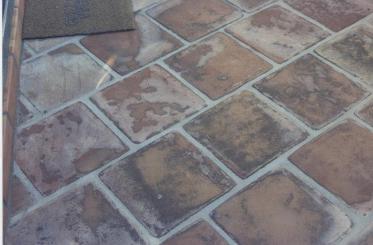Pavers Can Be Placed Atop Saltillo Tiles But Watch Doors And Stucco