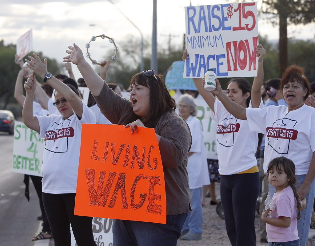 Wage protesters