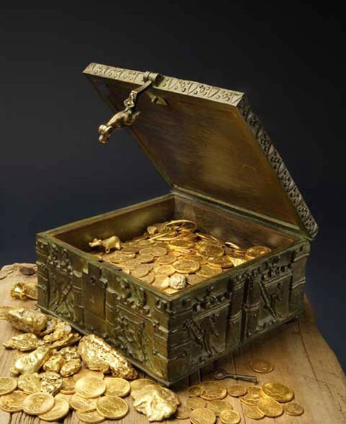 A fortune in gold and jewels awaits a lucky treasure hunter