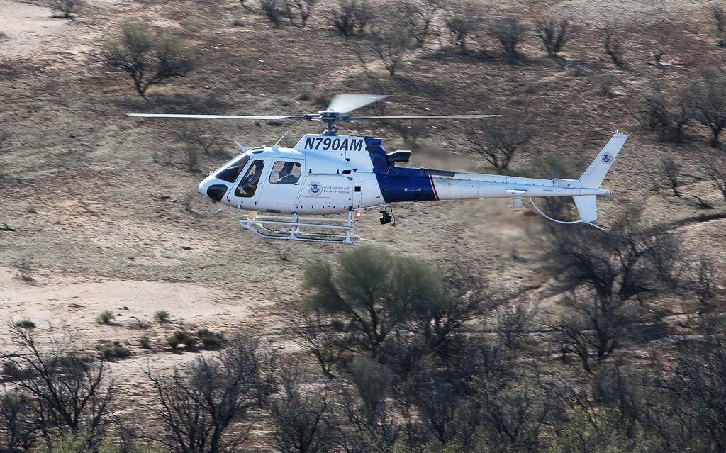 Border Patrol chopper
