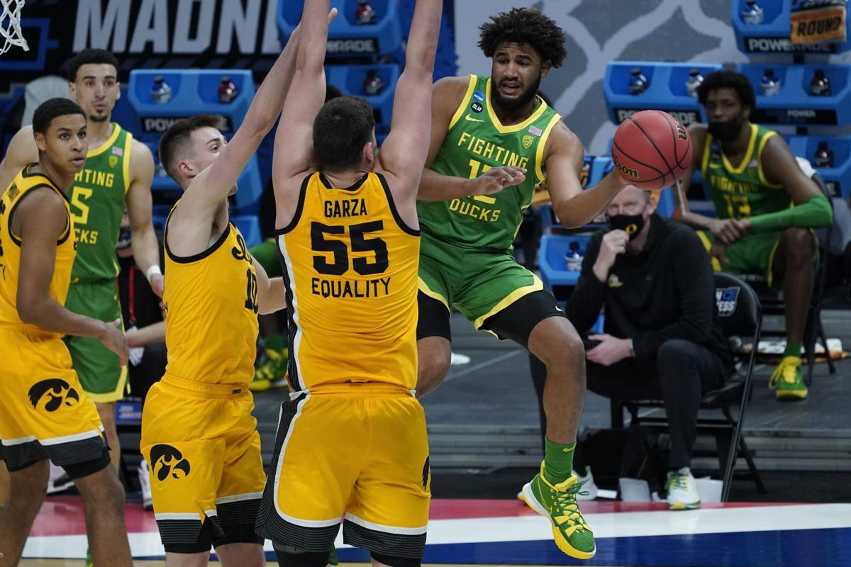 NCAA Oregon Iowa Basketball