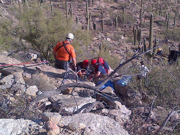 Vehicle tumbles 100 feet off Mount Lemmon highway