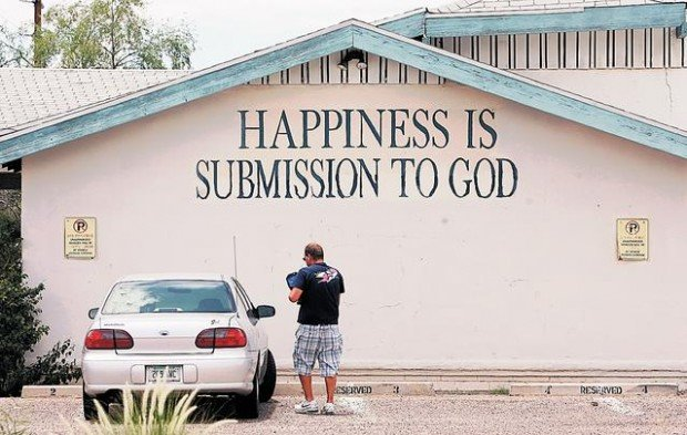 Tucson Oddity: Message on wall is a spiritual remnant