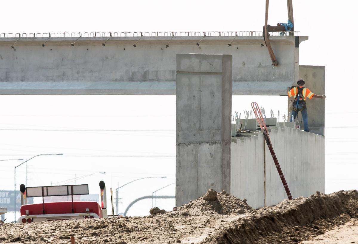 Ina Road Bridge construction