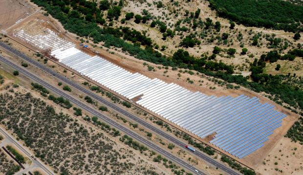 Solar farm being installed near Rio Rico