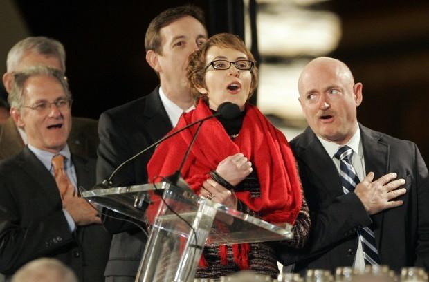 Rep. Gabrielle Giffords at UA vigil