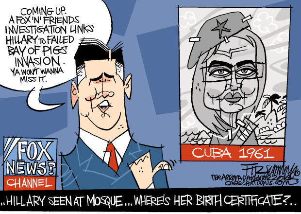 Daily Fitz Cartoon: Hillary alert