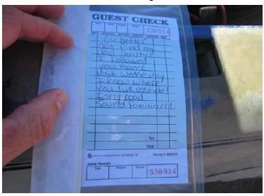 Men write fake note threatening a grand jury foreman