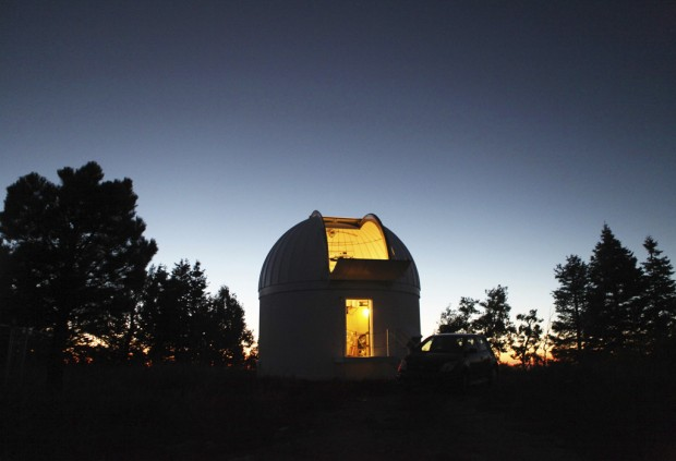 Cold War secrecy yields to telescope viewing