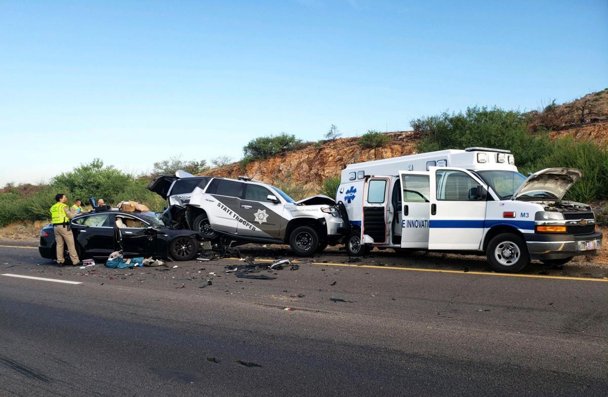 Tesla crash near Benson