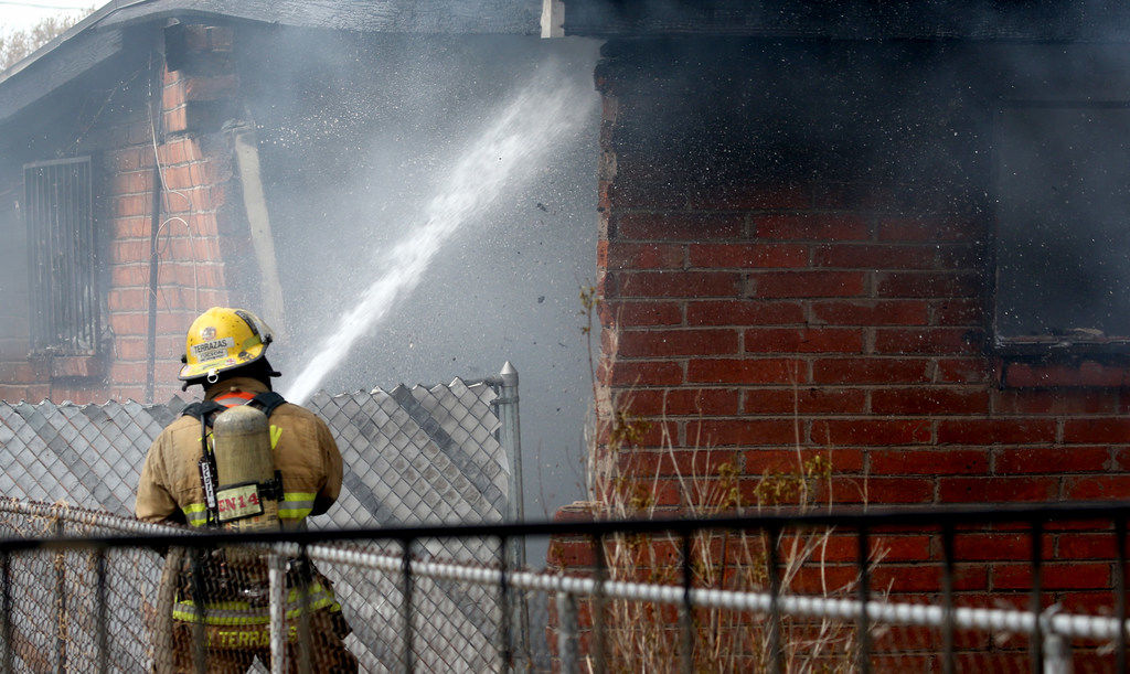 Firefighters at south-side house fire