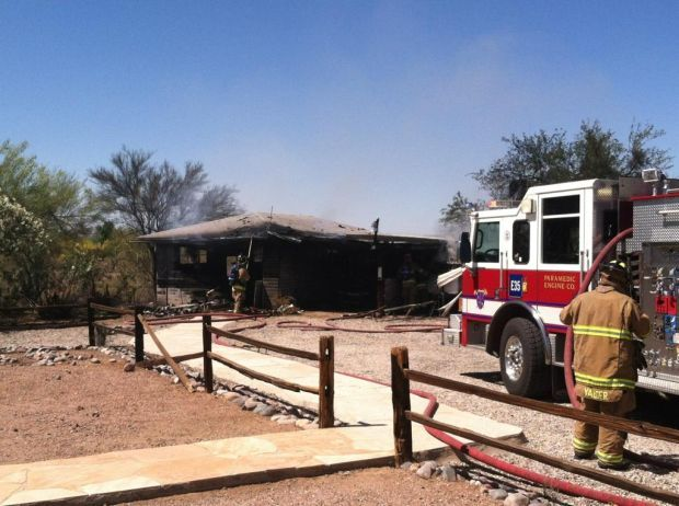 Woman suffers burns in structure fire in NW Tucson