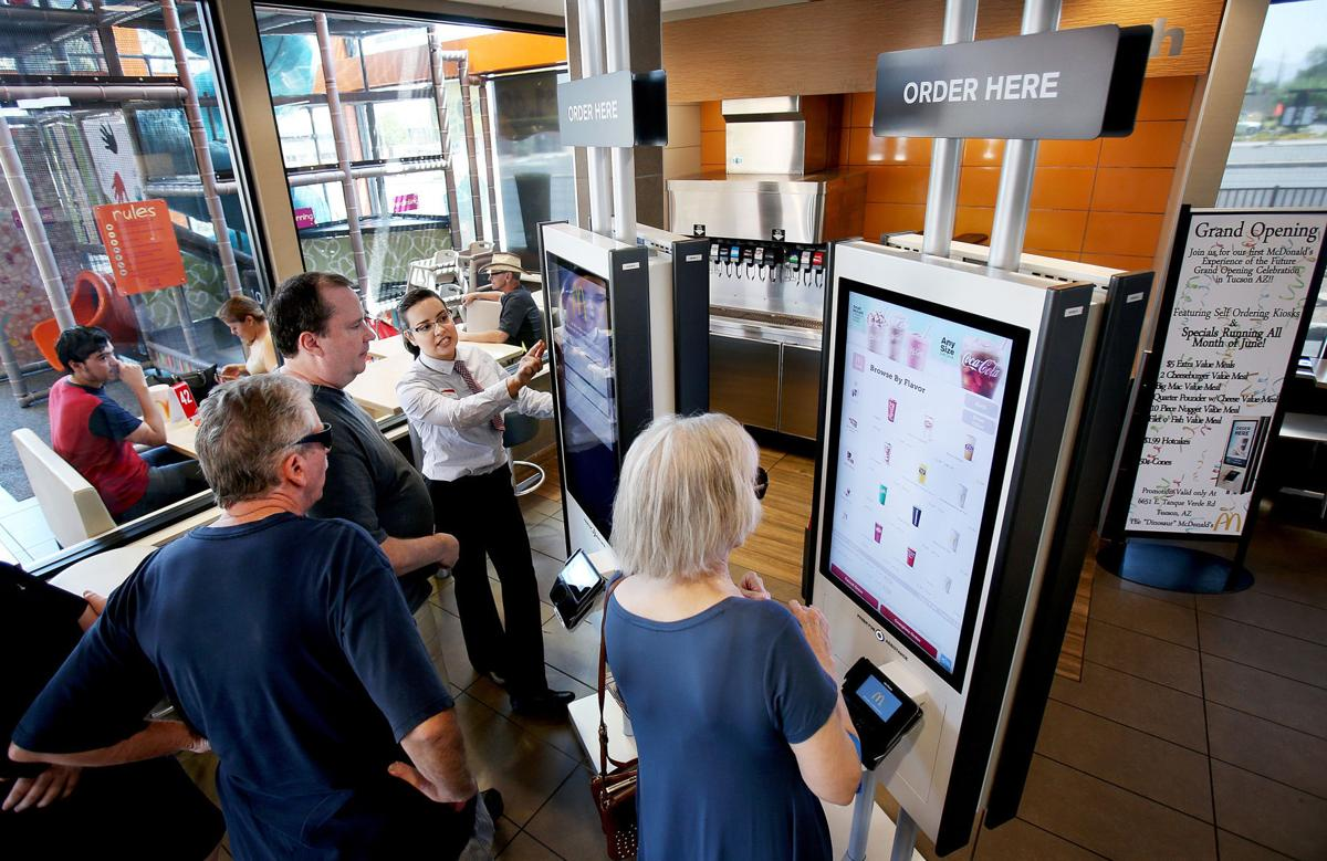 Ordering kiosks at McDonald's