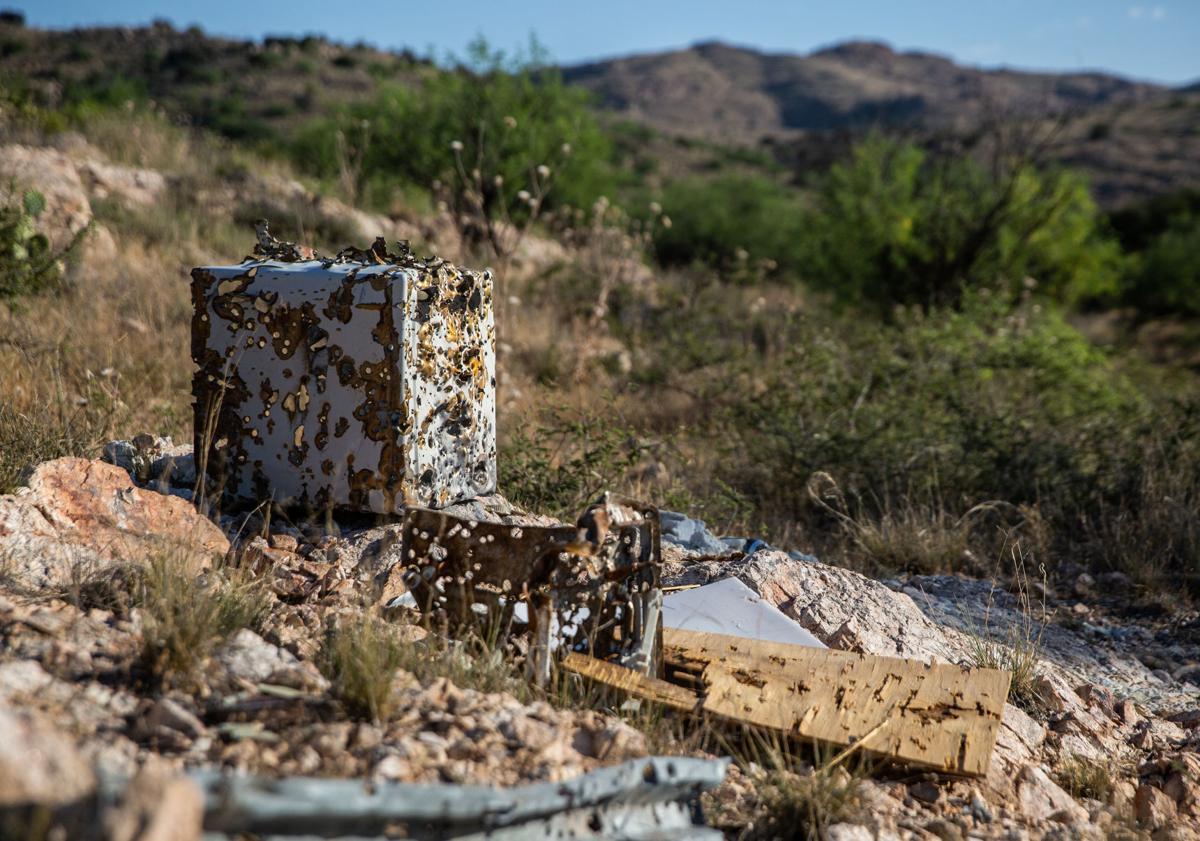 Illegal shooting ranges in Redington Pass