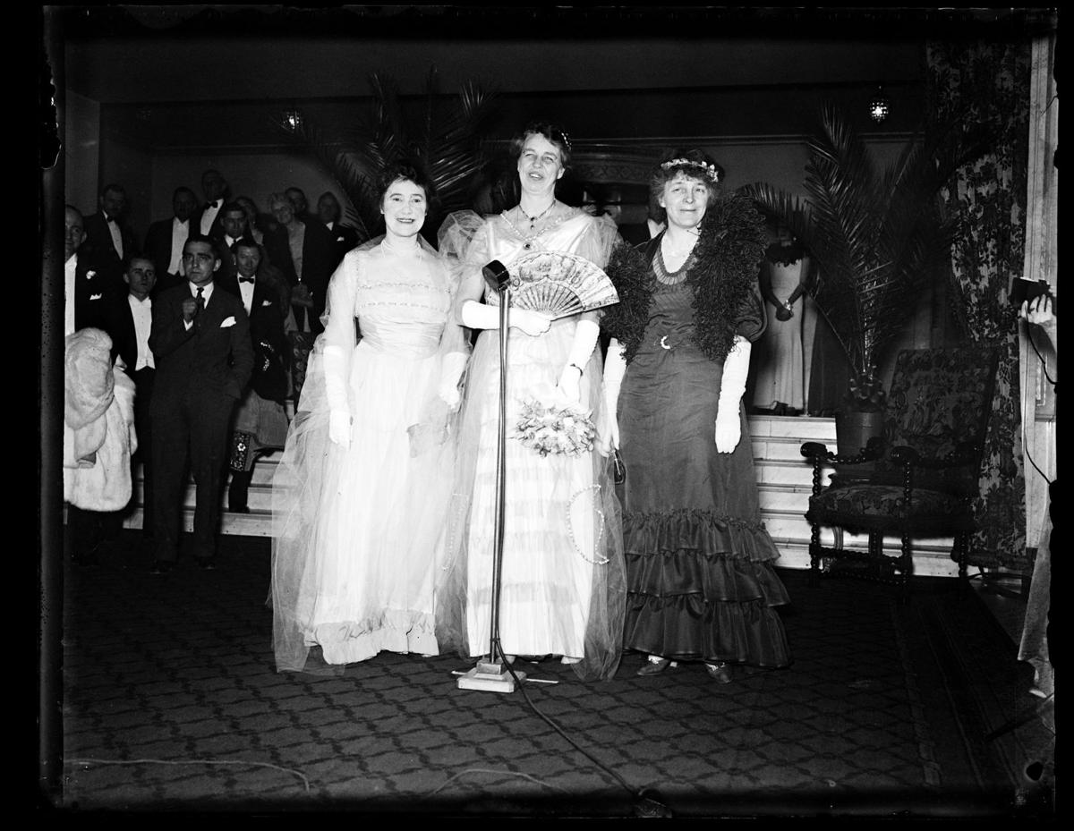 First Lady Eleanor Roosevelt and friends