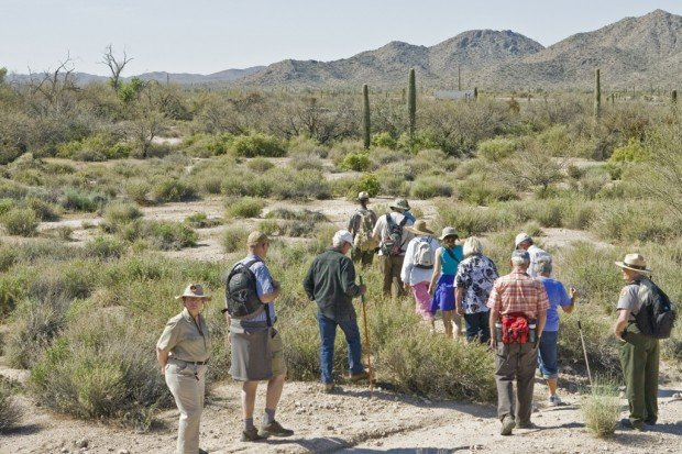 Armed guards ensuring safety of Organ Pipe tours