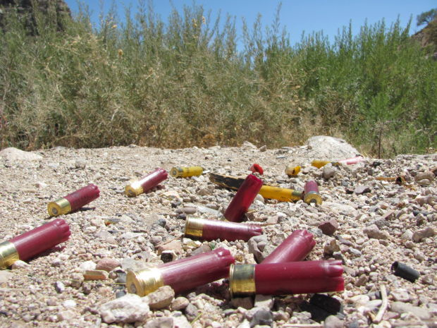 Shell casings left behind