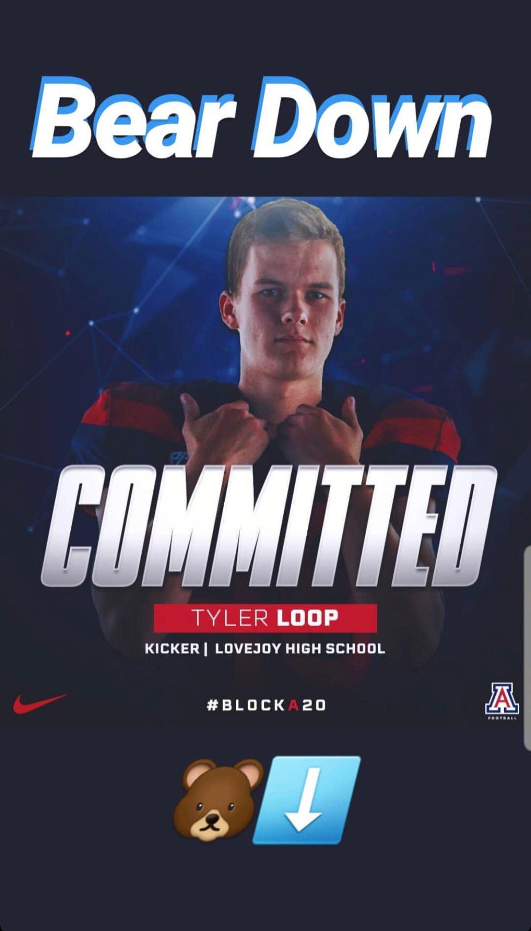 Tyler Loop, Arizona Wildcats football recruiting 2020