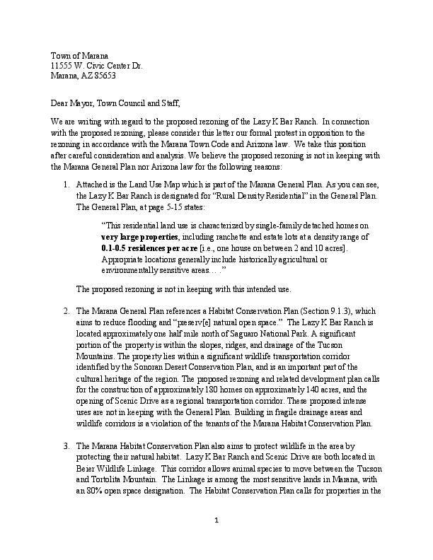 Letter of protest | | tucson.com
