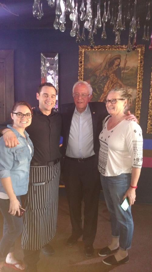 Bernie Sanders at Elvira's