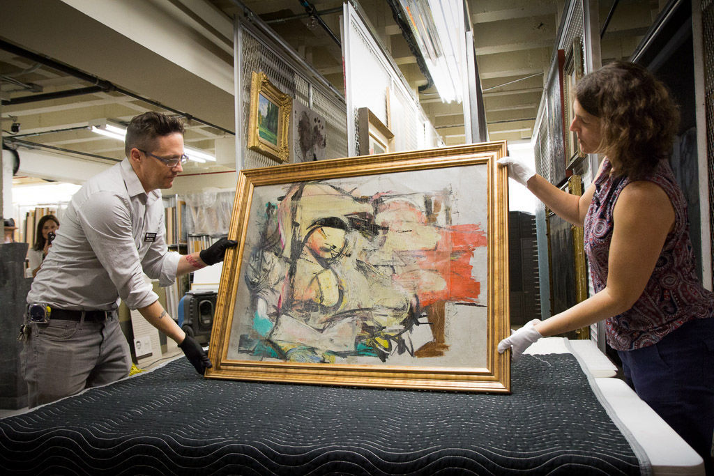 "Willem de Kooning ""Woman-Ochre"" Returned to UA Museum of Art"