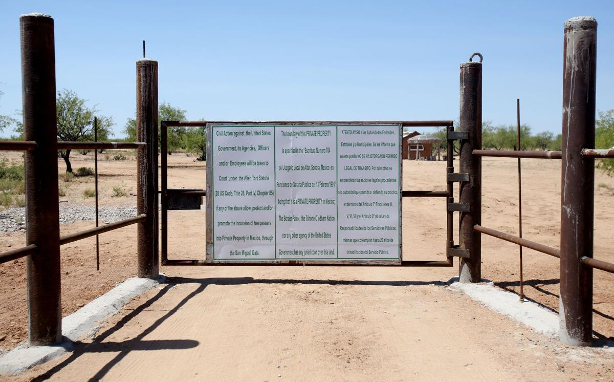 Tohono O'odham Nation gate